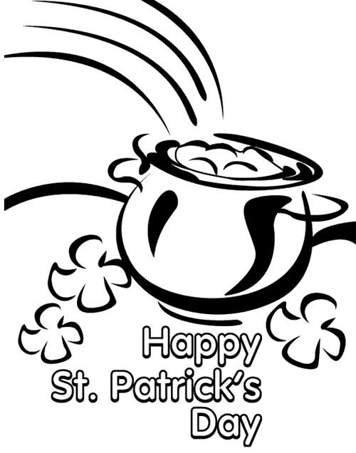 Coloriage et dessins gratuits Saint-Patrick et Le trésor d'or à imprimer