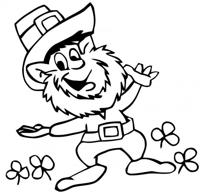 Coloriage et dessins gratuits Saint-Patrick facile à imprimer