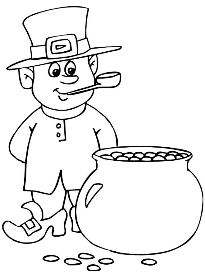 Coloriage et dessins gratuits Saint-Patrick folklore à imprimer
