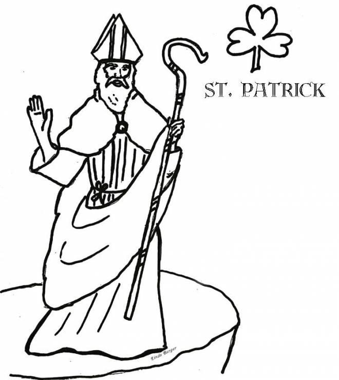 Coloriage et dessins gratuits Saint-Patrick Irlandais à imprimer