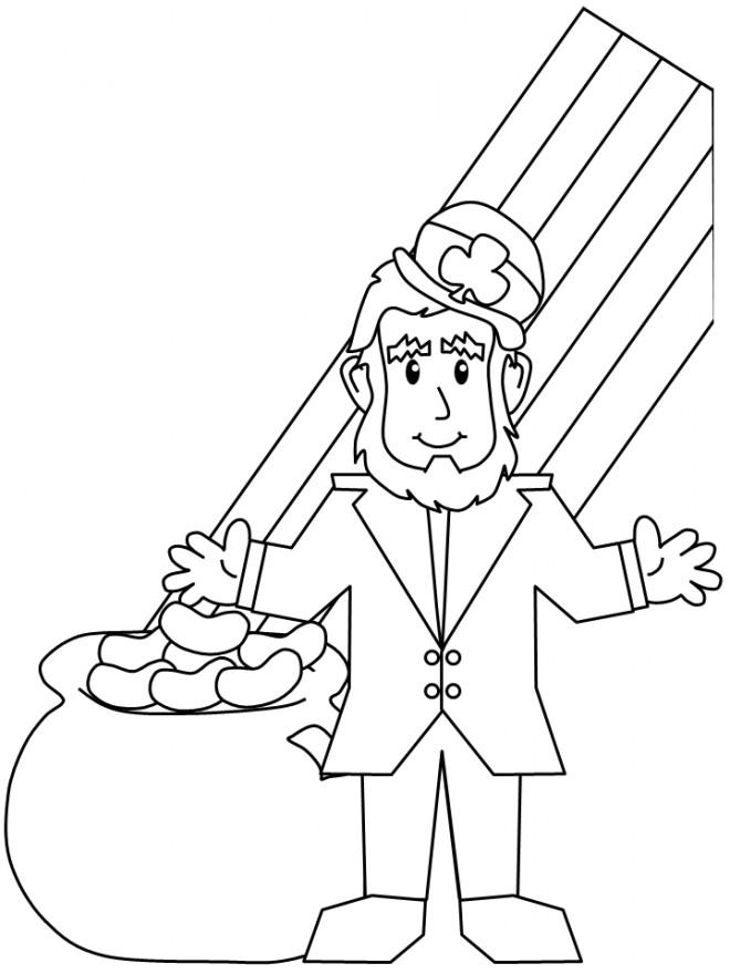Coloriage et dessins gratuits Saint-Patrick Légende à colorier à imprimer