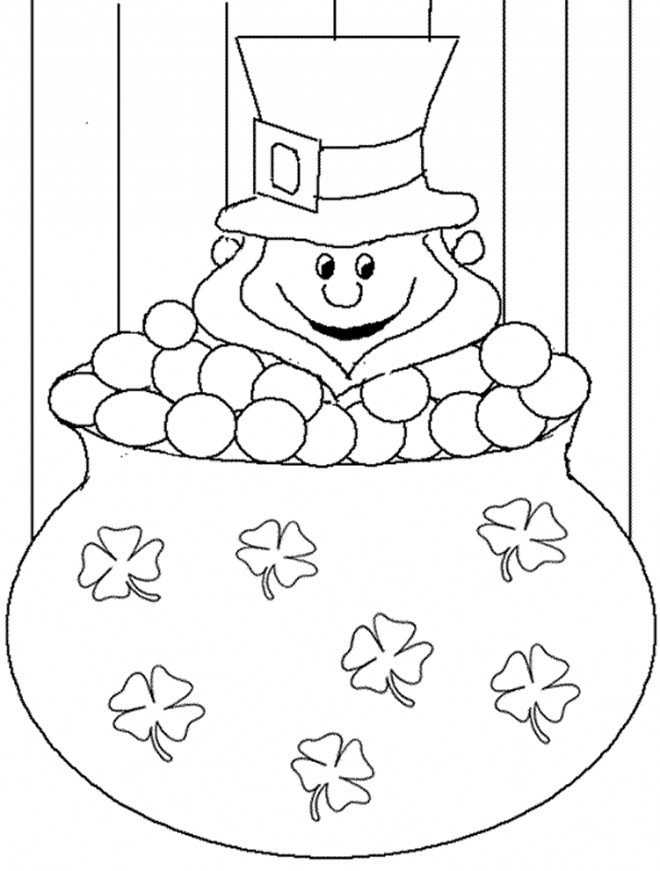 Coloriage et dessins gratuits Saint-Patrick Leprechaun stylisé à imprimer