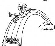 Coloriage et dessins gratuit Saint-Patrick magique à imprimer