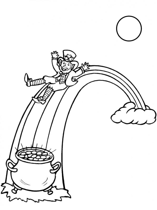 Coloriage et dessins gratuits Saint-Patrick magique à imprimer