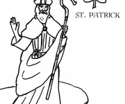 Coloriage Saint-Patrick maternelle
