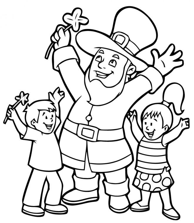 Coloriage et dessins gratuits Saint-Patrick maternelle à imprimer