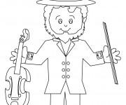 Coloriage Saint-Patrick musicien
