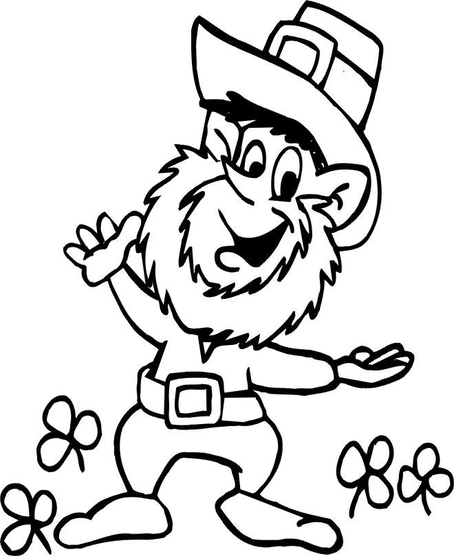 Coloriage et dessins gratuits Saint-Patrick rigolo à imprimer