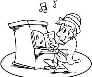 Coloriage Saint-Patrick sur Le Piano