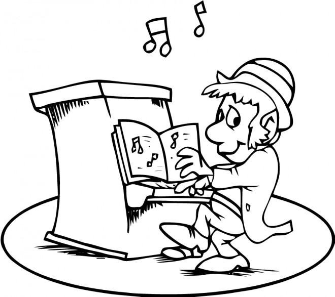 Coloriage et dessins gratuits Saint-Patrick sur Le Piano à imprimer