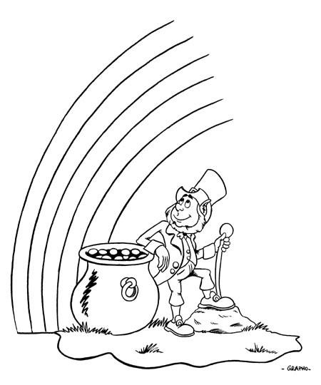 Coloriage et dessins gratuits Saint-Patrick sur ordinateur à imprimer