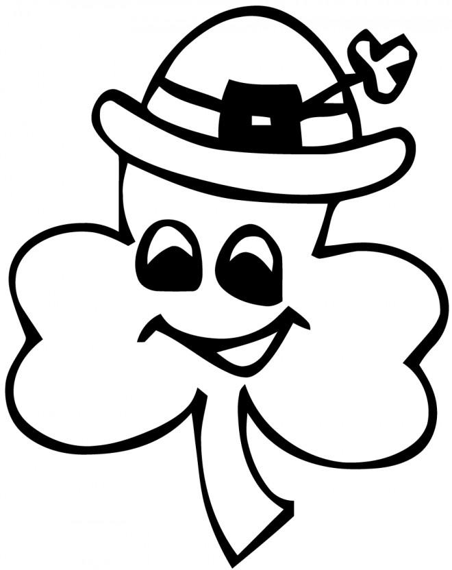 Coloriage et dessins gratuits Saint-Patrick vecteur à imprimer