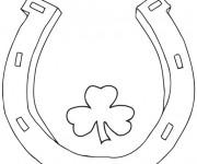 Coloriage Trèfle de Saint-Patrick simple