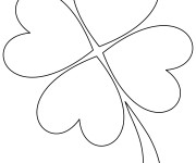 Coloriage Trèfle Saint-Patrick facile