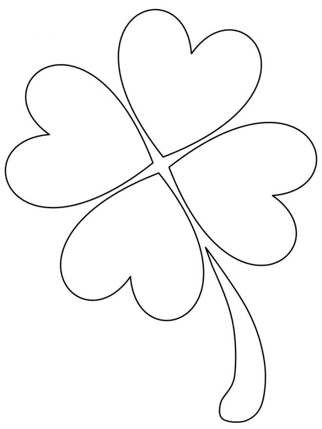 Coloriage et dessins gratuits Trèfle Saint-Patrick facile à imprimer