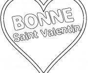 Coloriage Bonne Saint Valentin