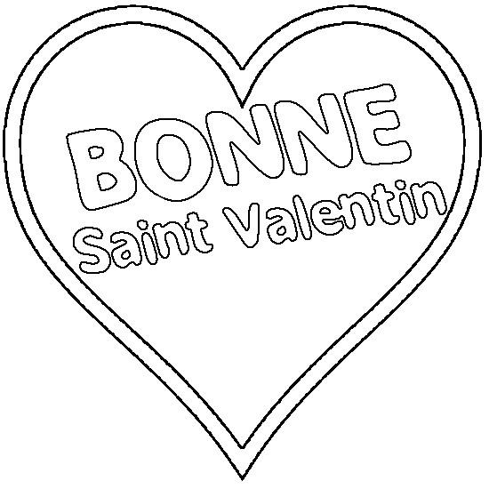 Coloriage et dessins gratuits Bonne Saint Valentin à imprimer