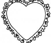 Coloriage Cadre de Coeur de Saint Valentin
