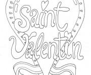 Coloriage Carte de St-Valentin à télécharger