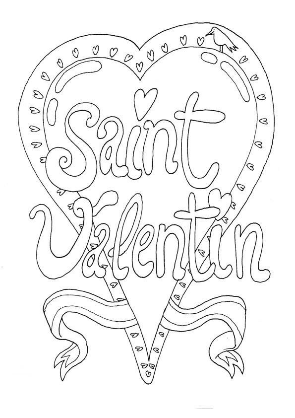 Coloriage Carte De St Valentin A Telecharger