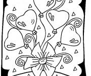 Coloriage et dessins gratuit Carte de vœux St-Valentin à imprimer