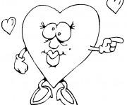 Coloriage Coeur D'amour confus