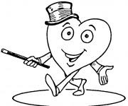 Coloriage Coeur d'amour magicien