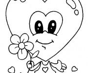 Coloriage Coeur d'amour mignon