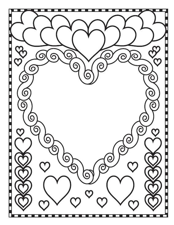 Coloriage Coeur Amour Gratuit.Coloriage Coeur D Amour St Valentin Dessin Gratuit A Imprimer
