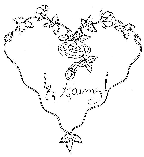 Coloriage Coeur De St Valentin En Fleur Dessin Gratuit A Imprimer