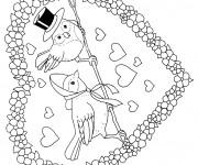 Coloriage Coeur de St-Valentin en Ligne