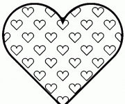 Coloriage Coeur de St-Valentin en vecteur