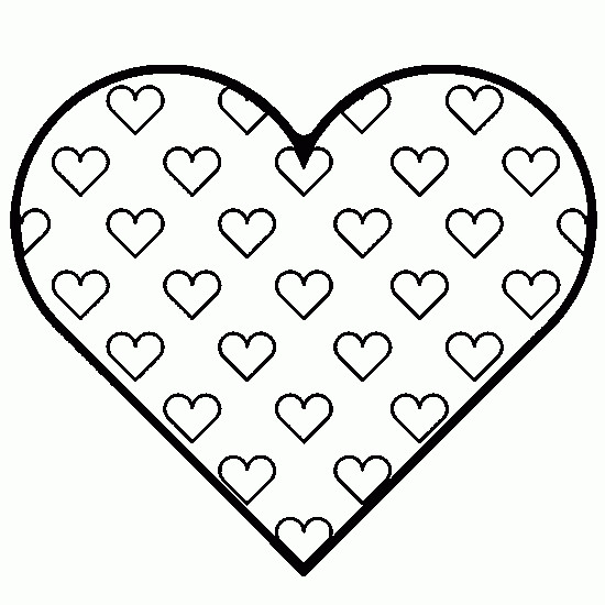 Coloriage Coeur De St Valentin.Coloriage Coeur De St Valentin En Vecteur Dessin Gratuit A Imprimer