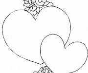 Coloriage Coeurs faciles pour Les amoureux