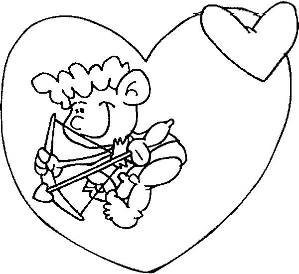 Coloriage et dessins gratuits Enfant qui cherche Les amoureux à imprimer