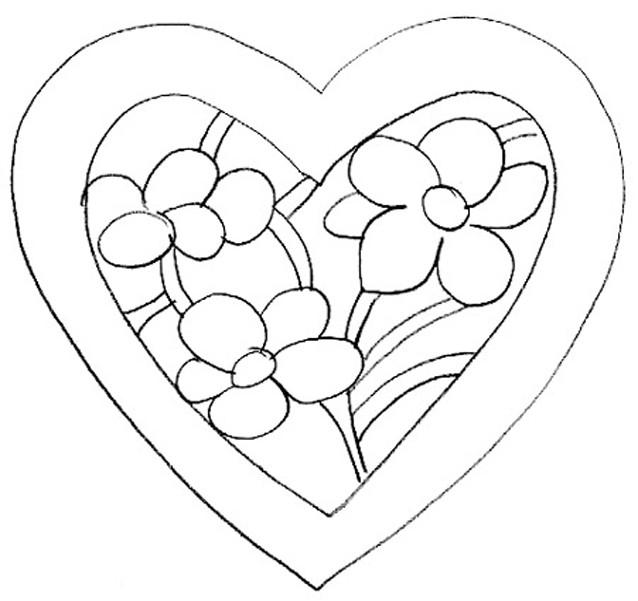 Coloriage et dessins gratuits Fleur St-Valentin à imprimer