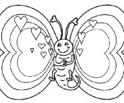 Coloriage Le Papillon semble amoureux