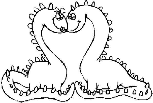Coloriage et dessins gratuits Les Monstres amoureux à imprimer