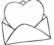 Coloriage et dessins gratuit Lettre d'amour St-Valentin à imprimer