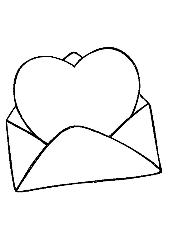 Coloriage et dessins gratuits Lettre d'amour St-Valentin à imprimer