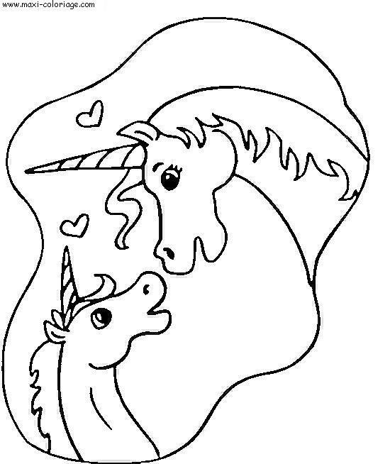 Coloriage Licorne St Valentin Dessin Gratuit A Imprimer