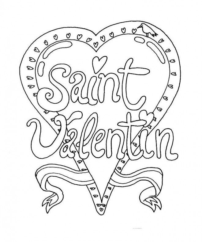 Coloriage et dessins gratuits Mandala St-Valentin facile à imprimer