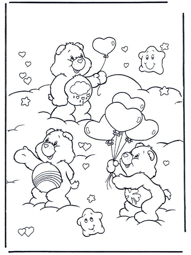 Coloriage et dessins gratuits Ours et coeur pour St-Valentin à imprimer