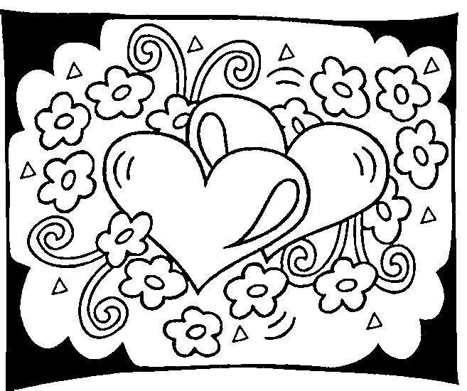 Coloriage et dessins gratuits St-Valentin 1 à imprimer