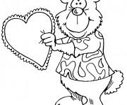 Coloriage et dessins gratuit St-Valentin 18 à imprimer