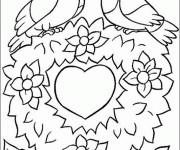 Coloriage dessin  St-Valentin 3