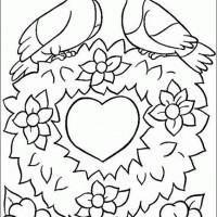 Coloriage et dessins gratuit St-Valentin 3 à imprimer