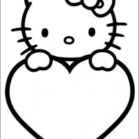 Coloriage et dessins gratuit St-Valentin 6 à imprimer