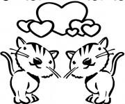 Coloriage et dessins gratuit St-Valentin à colorier à imprimer