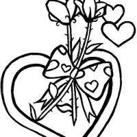 Coloriage et dessins gratuit St-Valentin Amour à imprimer